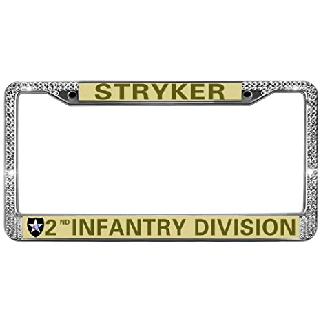Amazon.com: GND Stryker 2nd Infantry Division Chrome License Plate ...