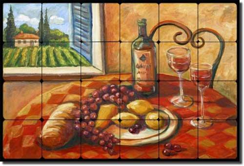 Wine Tumbled Marble Tile - 3