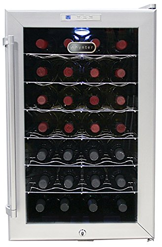- Whynter WC28S SNO 28 Bottle Wine Cooler, Platinum with Lock