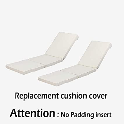 Amazon Com Htth 2pcs Beige All Weather Patio Chaise Lounge Cushion