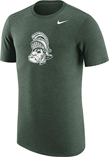 NIKE Men's Michigan State Spartans Heathered Green Vault Tri-Blend T-Shirt (XXL)