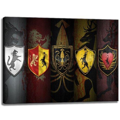 Game of Thrones Motiv auf Leinwand im Format  120x80 cm. Hochwertiger Kunstdruck als Wandbild. Billiger als ein Ölbild  ACHTUNG KEIN Poster oder Plakat