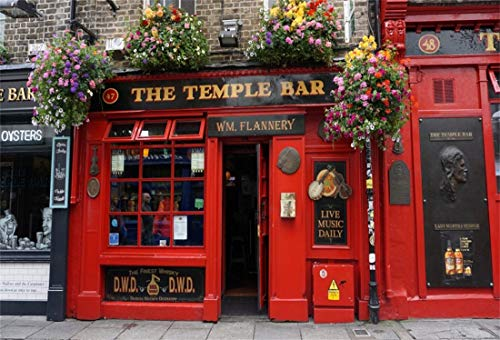 Yeele 10x6.5ft Photography Background Front of The Temple Bar Dublin Street Ireland Travel Lovers Adult Artistic Portrait Vinyl Seamless Photo Booth Backdrop Wallpaper ()