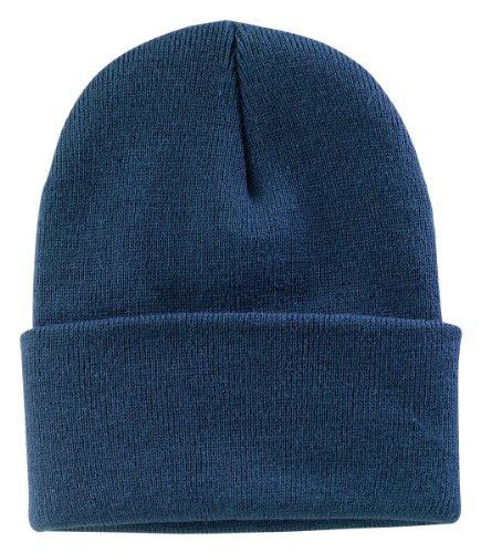 (Port & Company Men's Knit Cap OSFA Millennium Blue)
