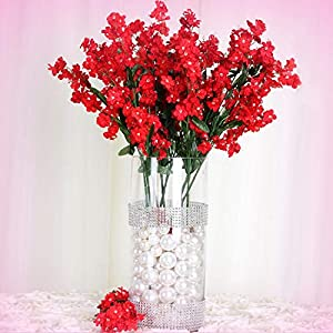 Inna-Wholesale Art Crafts New 384 Red Silk Baby Breath Filler Decorating Flowers Decorating Flowers Centerpieces Bouquets - Perfect for Any Wedding, Special Occasion or Home Office D?cor 100