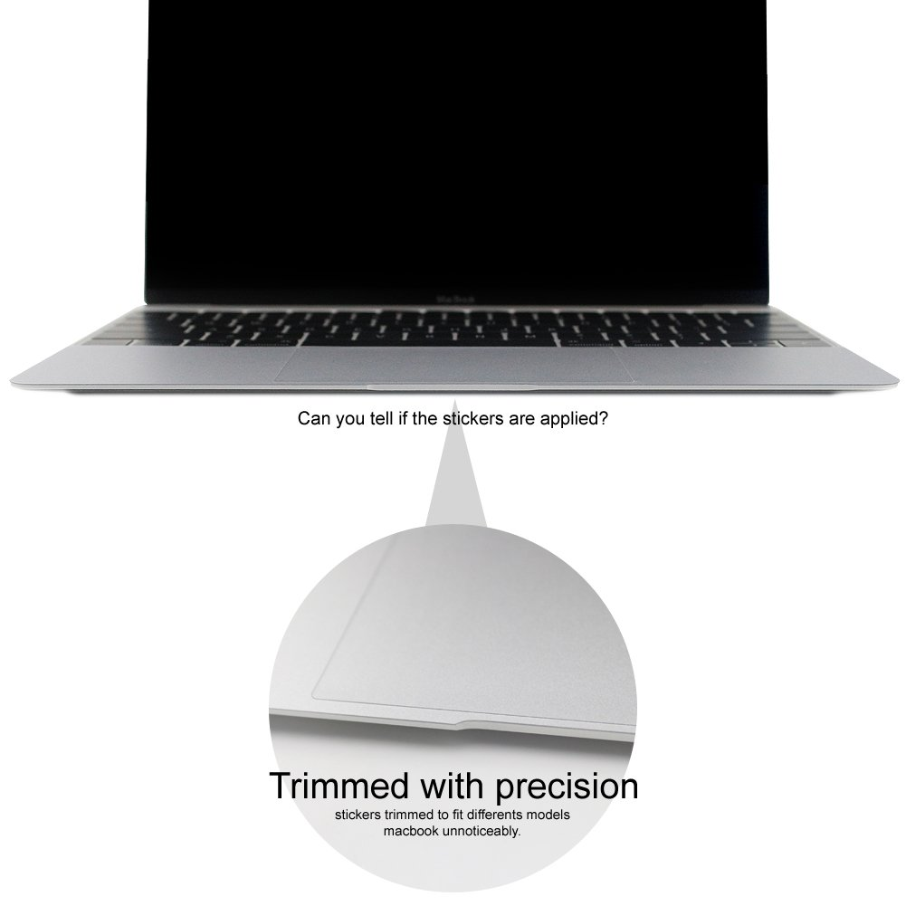 Allinside 11inch Palm Rest Cover with Trackpad Protector Sticker Skin Silver for MacBook Air 11.6 A1465 A1370