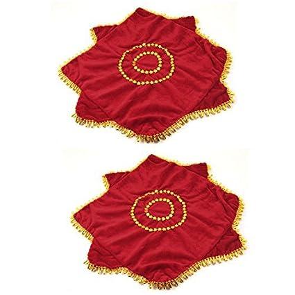 Amazon.com : eDealMax En Forma de gota Flor roja decoración Toalla Pañuelo Danza octogonal : Sports & Outdoors