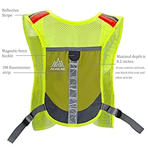 Premium Reflective Vest With 2 pcs 8.45 Oz Sport Water Bottle for Running Cycling Clothes for Women Men Safety Gear with Pocket 3M Scotchlite with Reflective High Visibility (Pink with 2 bottle)