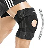 Berter Knee Brace Support, Open Patella Stabilizer with Neoprene Knee Sleeve for Men