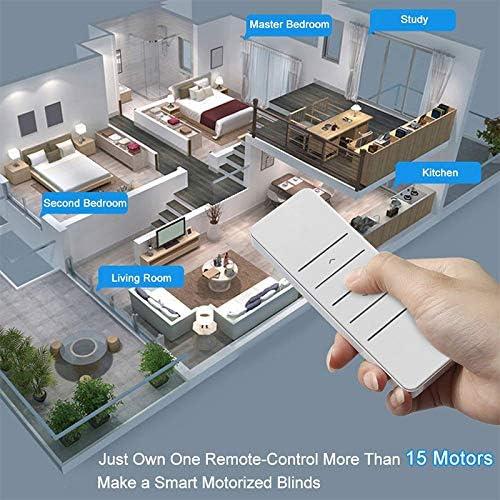 EU-Bestimmungen QiChan Blinds Automation Kit WiFi-Rollo-Treiber Arbeiten mit Alexa Google Assistant DIY-Rollladenmotor Tuya//Smart Life APP-Sprachsteuerung