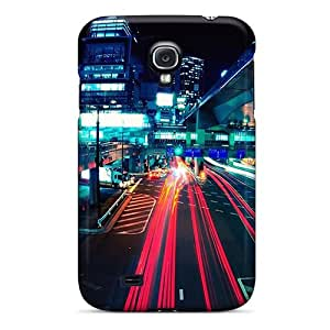 Hot Snap-on The Road At Night Hard Cover Case/ Protective Case For Galaxy S4