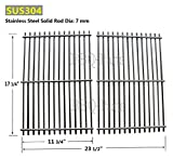 Hongso SCI930 7525 7527 BBQ Stainless Steel ROD Replacement Cooking Grill Grid Grate for Weber, Ducane Lowes Model Grills, Sold As A Set of 2