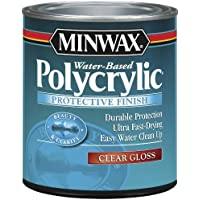 Minwax 25555 Gloss Polycrylic Protective Finishes, 1/2 Pint by Minwax