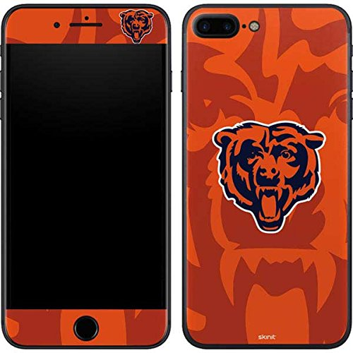 (Skinit Chicago Bears Double Vision iPhone 8 Plus Skin - Officially Licensed NFL Phone Decal - Ultra Thin, Lightweight Vinyl Decal Protection)