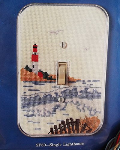 Counted Cross Stitch Lighthouse for Light Switchplate