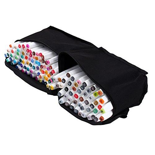 168-Color Marker Pen Set, Dual Tips Art Sketch Twin Marker Pens, Animation...