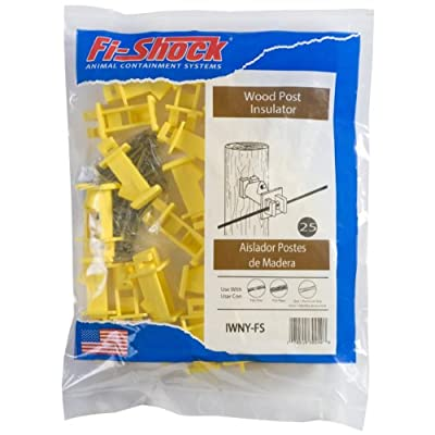 Fi-Shock IWNY-FS Slant Nail Insulator, Yellow
