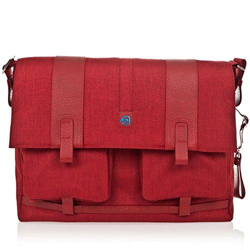 Piquadro - Bolso al hombro para hombre rojo rojo