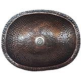 Egypt gift shops 45 cm Antique Patina Oval Copper Bathroom Sink Toilet Lavatory Basin