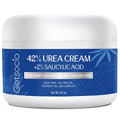 Urea Cream 42% Plus Salicylic Acid 4 Oz, Upgraded Callus Remover Hand Cream Foot Cream for Dry Cracked Feet, Hands, Heels, Elbows, Knees, Intensive Moisturizes & Softens Skin, Exfoliates Dead Skin