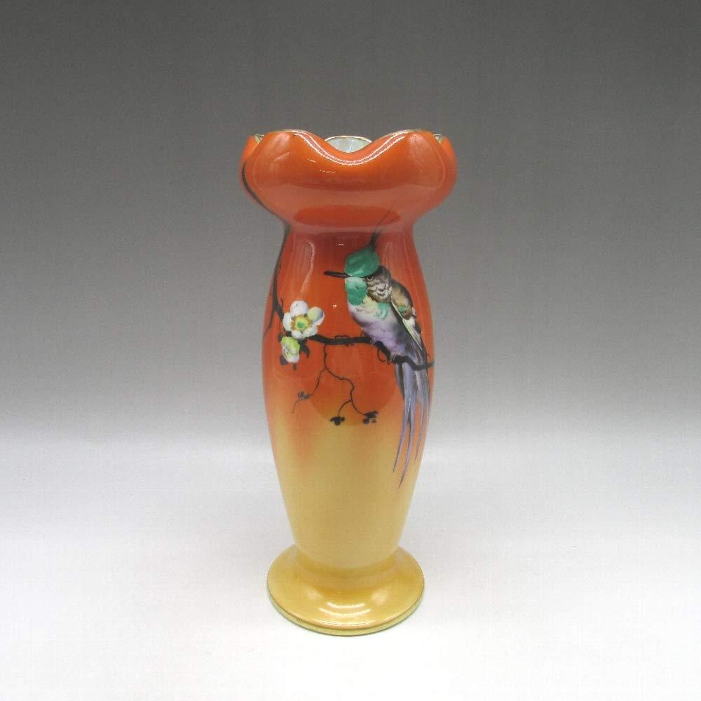オールドノリタケ : アールデコ花鳥文花瓶 【 1921年頃 - 1941年頃 】 【 ヴィンテージ 】【 里帰陶磁器 】【 U4595 】【 敬誠アート 】 B07SM4PSDR