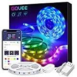 Govee Smart WiFi LED Strip Lights Works with Alexa, Google Home Brighter 5050 LED, 16 Million Colors Phone App Controlled Music Light Strip for Home, Kitchen, TV, Party, for iOS and Android, 16.4ft: more info