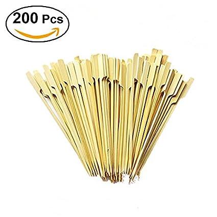 Queta - Palillos de bambú para pádel, 20,32 cm, 100 piezas,