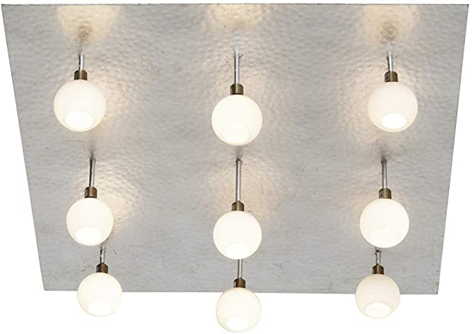 neerlandés Hierro plafón Lucente en plata | lámpara de techo ...