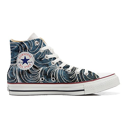 artisanal Star Hi All coutume produit chaussures Converse Paisley Spake YwOxF