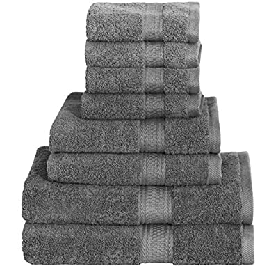 Cotton Bath Towel Set - 8 Piece includes 2 Bath Towels, 2 Hand Towels, and 4 Washcloths - by Utopia Towels