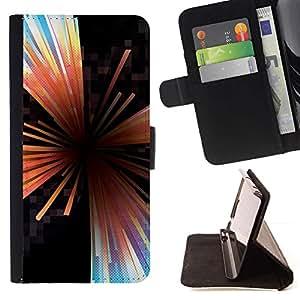 Momo Phone Case / Flip Funda de Cuero Case Cover - Líneas Extracto de cristal Negro Hole - Sony Xperia Z5 5.2 Inch (Not for Z5 Premium 5.5 Inch)