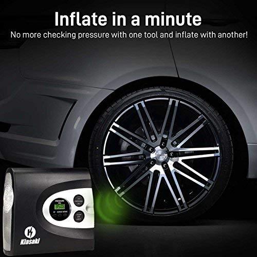 Amazon Com Kiasaki Digital Tire Inflator For Car W Pressure Gauge