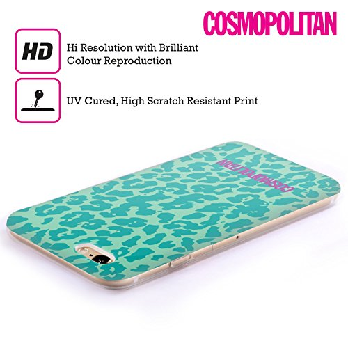 Official Cosmopolitan Teal Cheetah Animal Skin Patterns Soft Gel Case for Apple iPhone 5 / 5s / SE