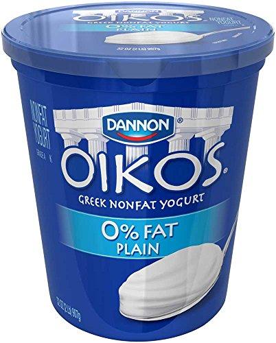 Oikos Plain Nonfat Greek Yogurt, 32 Ounce -- 6 per case. by Dannon (Image #1)