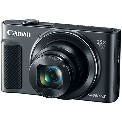Canon PowerShot SX620 HS Digital Camera Plus Bundle Kit with 16GB SDHC Memory Card, Carrying Case, Mini Tripod, Screen Protectors, Cleaning Kit, Beach Camera Cloth and Accessories - Black