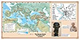 CoolOwlMaps The Roman World at the birth of Christ and Rome - Wall Map Poster 36''x18'' Laminated