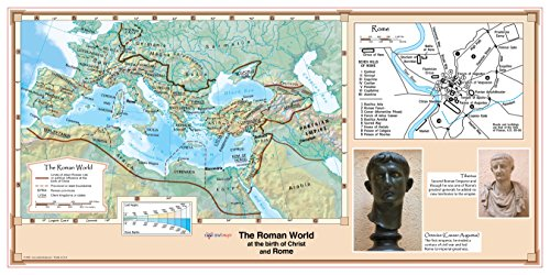 CoolOwlMaps The Roman World at the birth of Christ and Rome - Wall Map Poster 36''x18'' Laminated by Cool Owl Maps