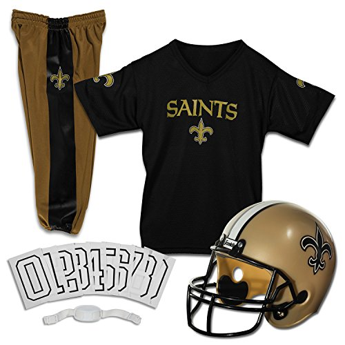 Franklin Sports NFL New Orleans Saints Deluxe Youth Uniform Set, Medium New Orleans Saints Football Uniform