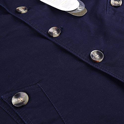 A Casual 2016 Spring Collo Parka Militare Outerwear Cappotti Con Lunghe Blazer Petto Giacca Maniche Blu Autumn New Uomo Aderente Zicac Donna Stile Trench Da Ripiegato n8xaOwOCq