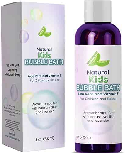 Bubble Bath for Kids & Sensitive Skin Types – Lavender Vanilla Aromatherapy - Baby Bubble Bath for Children – 8 Oz & USA Made