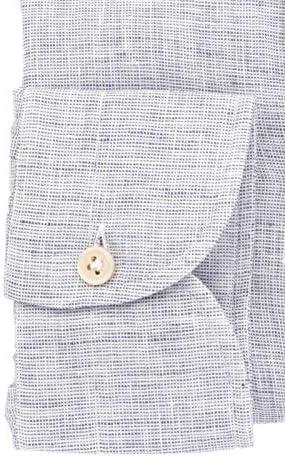 Luigi Borrelli Fashion Man 452572 Grey Linen Shirt   Spring Summer 20