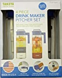 Takeya 4 Piece Drink Maker Pitcher Set (Blue)