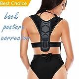 Back Posture Corrector - Adjustable Figure 8 Clavicle Brace to Improve Posture Spine Alignment Upper Back Support Prevent Hunchback for Neck Shoulder Pain Relief - Posture Trainer for Men Women