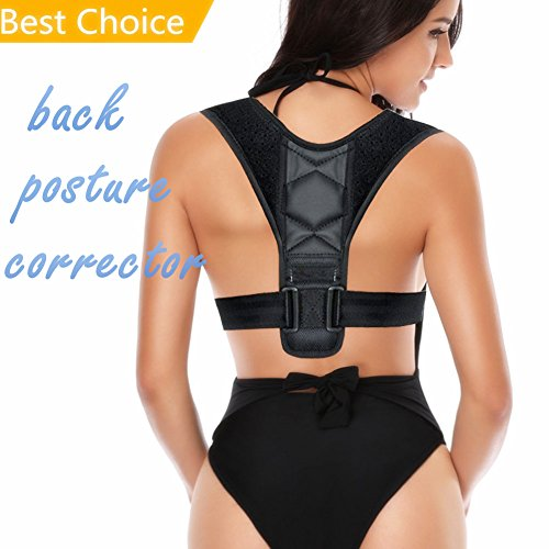Back Posture Corrector - Adjustable Figure 8 Clavicle Brace to Improve Posture Spine Alignment Upper Back Support Prevent Hunchback for Neck Shoulder Pain Relief - Posture Trainer for Men Women by S SWING IN THE DARK