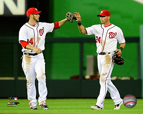 (Rick Ankiel & Bryce Harper Washington Nationals MLB Photo (Size: 8