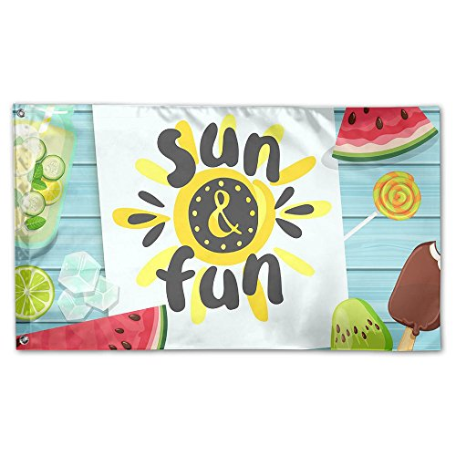 BINGOING Flag Decorative House Flags - Sun And Fun Outdoor S