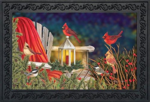 (Briarwood Lane Cardinal Lantern Christmas Doormat Seasonal Birds Indoor Outdoor 18