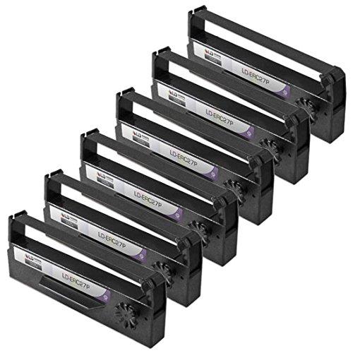 LD © Compatible 6 Pack Purple POS Ribbon Cartridges for Epson ERC-27P