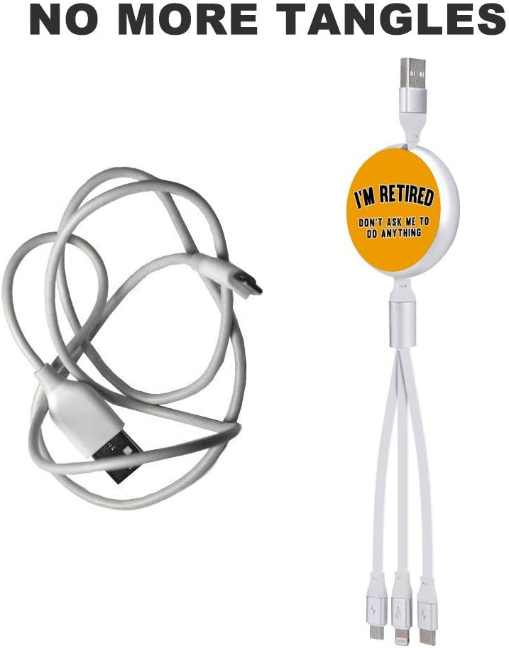 Circular Data Line Im Retired Beautiful and Multifunctional Mobile Phone Data Cable 5.65.62.2cm