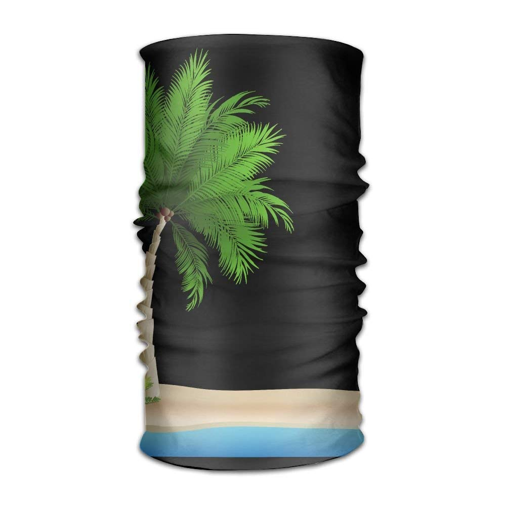 Men And Women Unisex Magic Headbands Headscarf Palm Trees Island Seamless Outdoor Riding Yoga Bandanas Running Workout Sweatband Neck Wrap Hair Band WAZH
